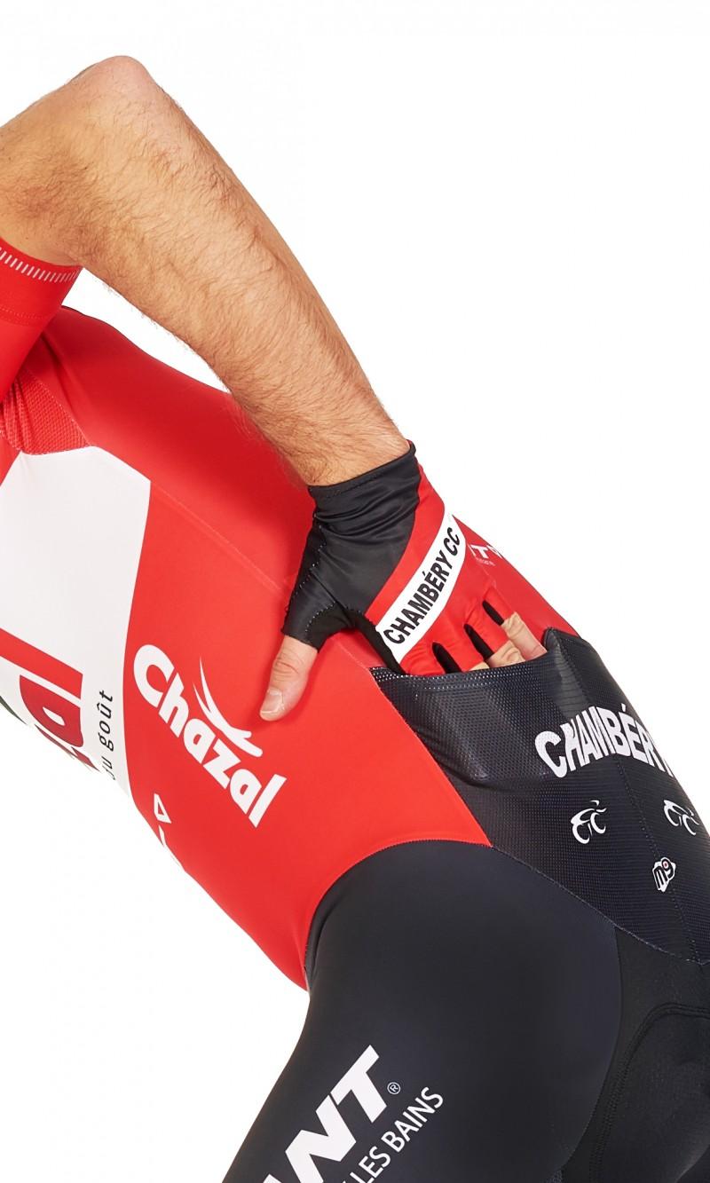 Gants cyclisme lycra aérodynamique et paume confortGrip