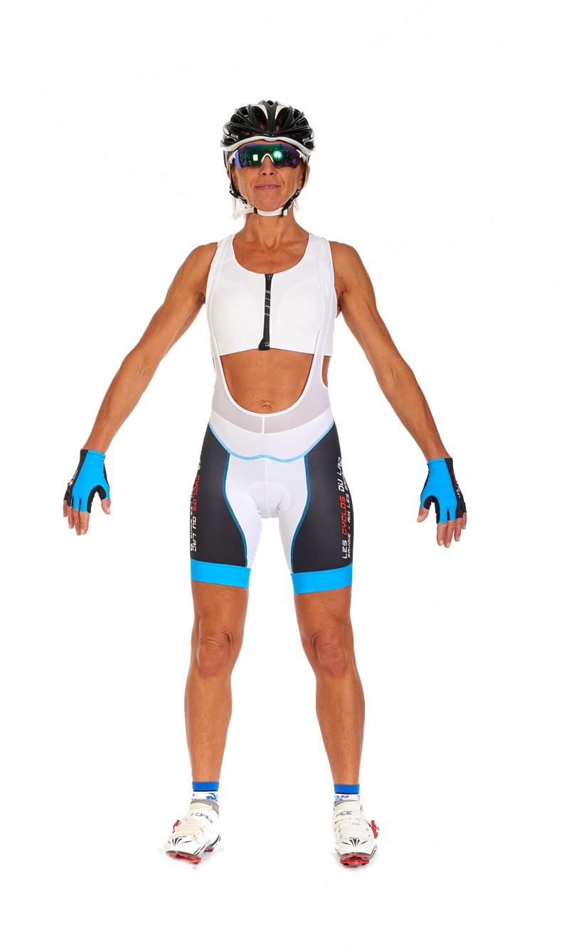 Cuissard Femme sans bretelle personnalisé club Cyclotourisme fond longue distance