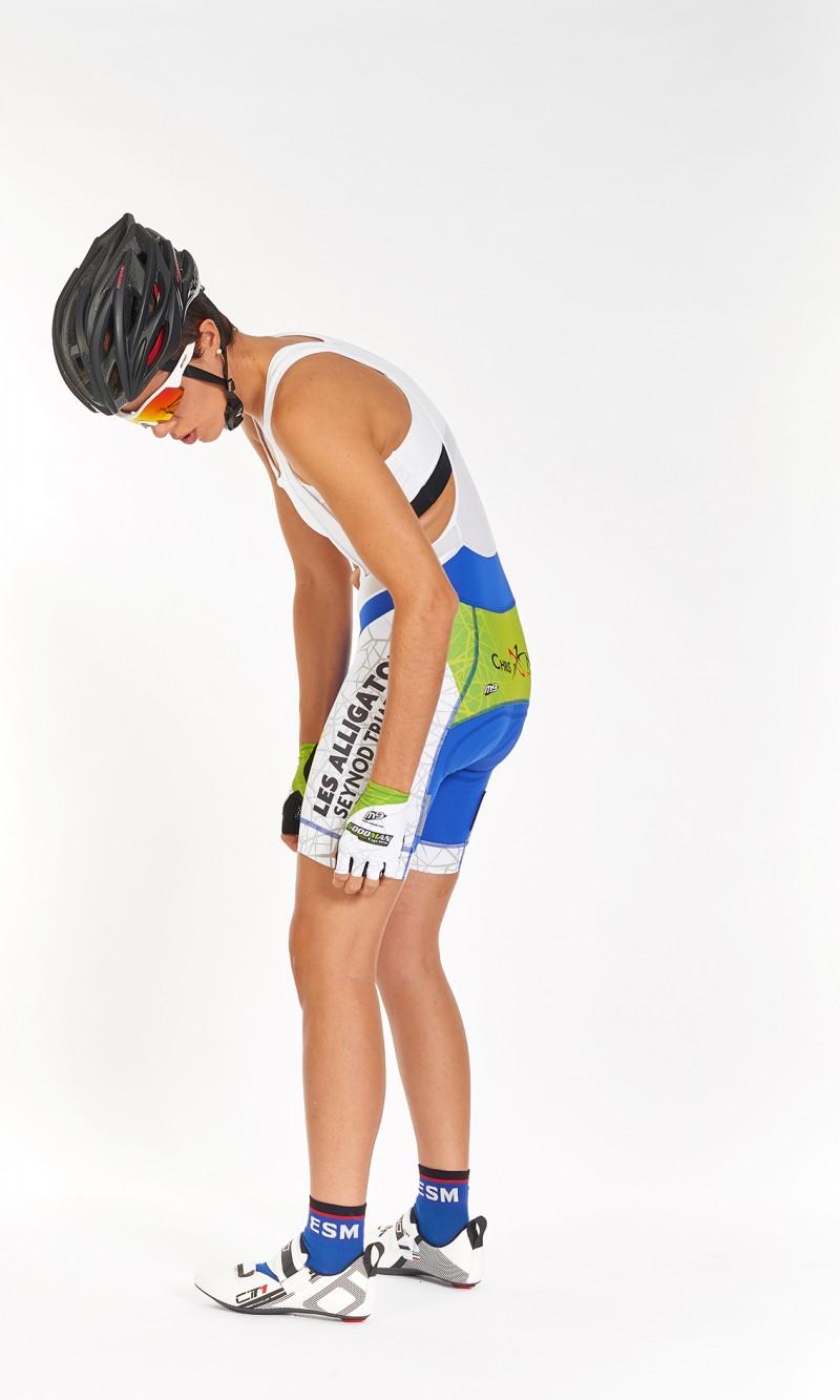 Cuissard Féminin à bretelles personnalisé Cyclisme fond longue distance