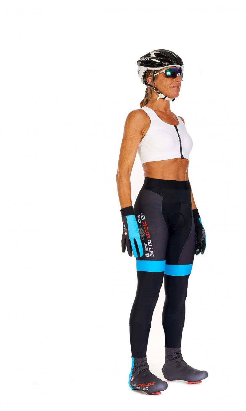 Collant long Femme sans bretelle personnalisé club Cyclotourisme fond longue distance