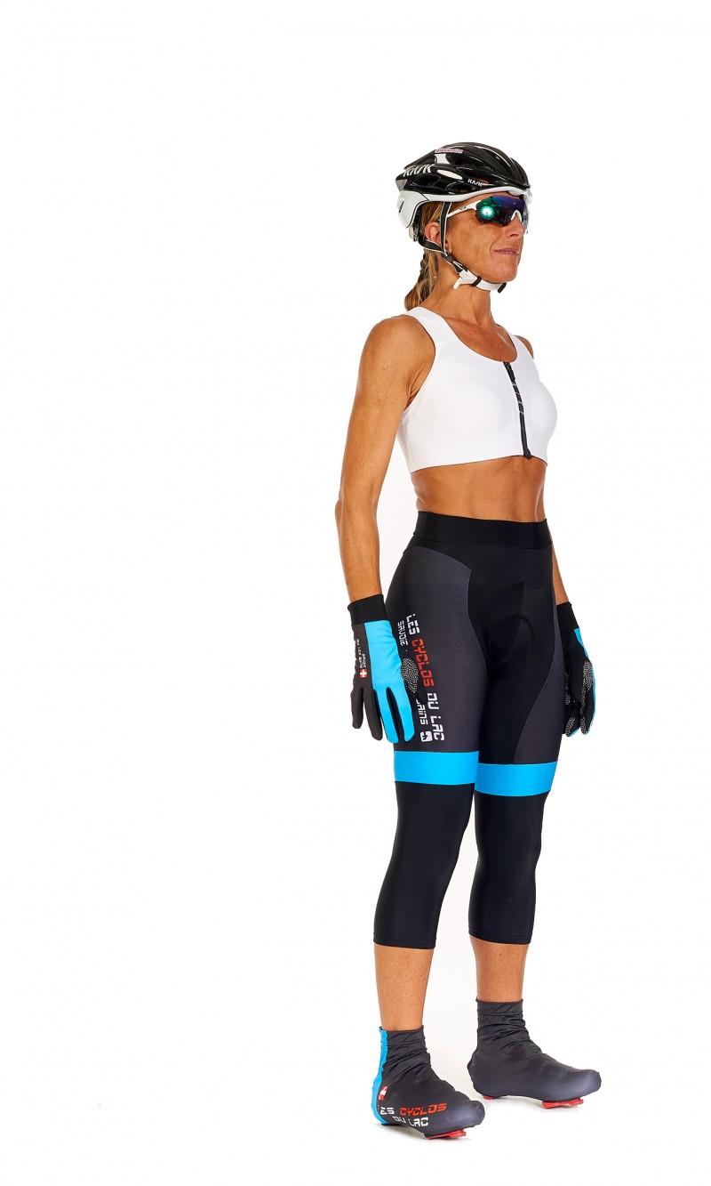 Collant Corsaire Femme sans bretelle personnalisé club Cyclotourisme fond longue distance