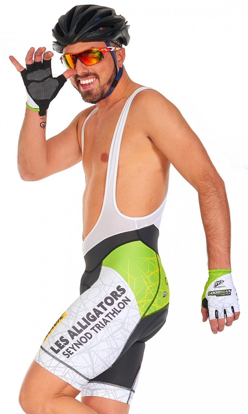 Cuissard Homme à Bretelles Cyclisme compétition personnalisé
