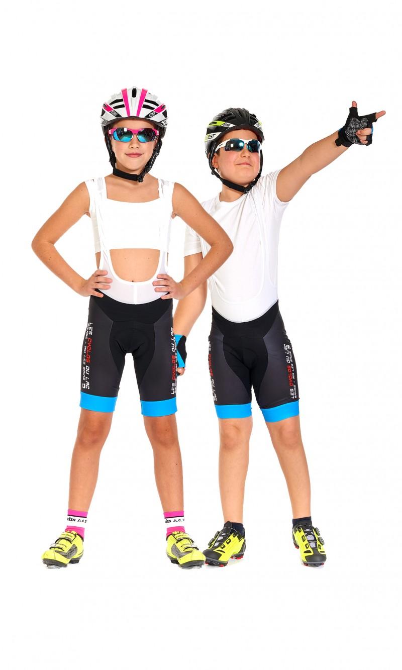 Cuissard à Bretelles Mixte Enfant Cyclotourisme pesonnalisé