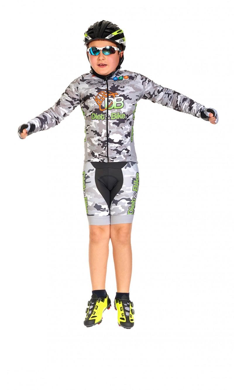 Maillot à manches longues enfant cyclisme personnalisé club