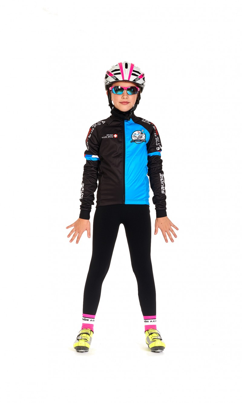 Veste demi-saison Mixte Enfant Cyclotourisme personnalisé